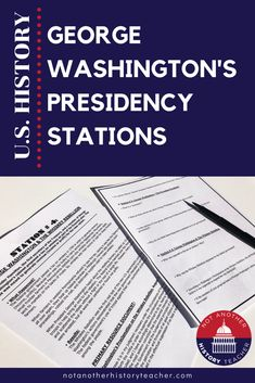 This is ready to use station lesson on George Washington's Presidency. Just print the stations in color and go! Each station is designed to get your kids critically analyzing the past, interpreting history, and gets them out there seats. This lesson will take a full 55 minutes and is a print and go lesson.
