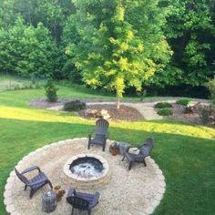 33 How to Build a DIY Backyard Fire Pit - - Backyard Landscaping Fire Pit Seating, Fire Pit Area, Backyard Seating, Diy Fire Pit, Fire Pit Backyard, Backyard Patio, Backyard Landscaping, Seating Areas, Garden Seating