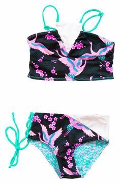 0ee976dd16 Bowie James Bo & Arrow Reversible Two-Piece Swimsuit (Toddler Girls, Little  Girls