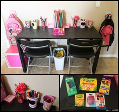 Homework Station! One of my only ideas that actually turned out just like I pictured!