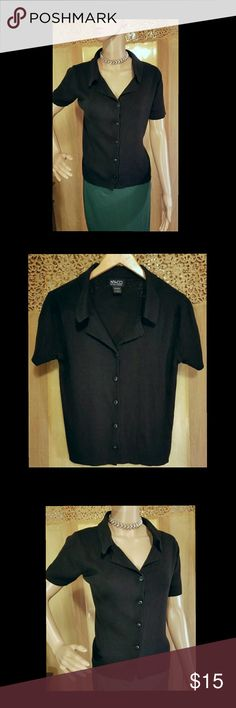 NY & CO New York & Company  sweater shirt Like new New York & Company black button up sweater shirt. New York & Company Sweaters Cardigans