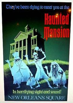 Disney Haunted Mansion Attraction Poster Art Reproduction 32 x 40 Disneyland