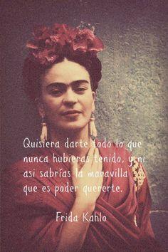 #FridaKahlo Con todo su sentir expresando su amor...como mi sentir me hace expresar el mio