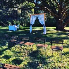 Our small arbor, decorated by our clients for last weekends wedding. Gibson Park at Tallebudgera is truly a magical place🌿🍃🌿 Outdoor Furniture Sets, Outdoor Decor, Backdrops, Empire, Photo And Video, Park, Places, Wedding, Vintage