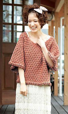 saumur pullover - pattern by Pierrot (Gosyo Co., Ltd) free pattern on Ravelry