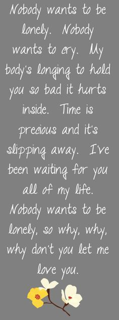Ricky Martin & Christina Aguilera - Nobody Wants to be Lonely - song lyrics, song quotes, songs, music lyrics, music quotes,