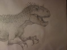 Indominus rex concept drawing by anthonyhoogsteden on DeviantArt Concept Draw, Indominus Rex, Dinosaur Illustration, Dinosaur Drawing, Jurassic Park World, Deviantart, Portrait, Drawings, Artwork