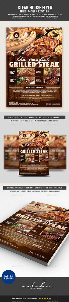 Steakhouse Restaurant Flyer