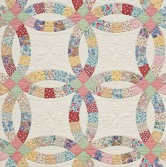 Double Wedding Ring PRECUT Quilt Kit 1930's by TheFoxandtheFable, $65.00