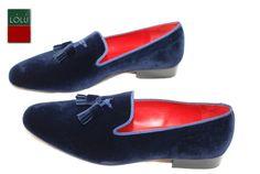 Blue Tassle Loafers