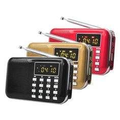Portable L-218 LCD Digital FM Radio USB TF Mp3 Music Player Speaker  For The Old #Unbranded