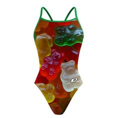 Gummy Sunback Tank. While highly realistic, our Gummy Suits are not edible..yet. #qswimwear