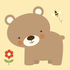 I Love this sweet little bear! A gorgeous peice of wall art for your childs room.