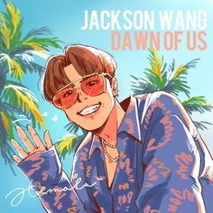 Jackson Wang Dawn of Us name of artist in fanart Jackson Wang, Mark Jackson, Got7 Jackson, Youngjae, Yugyeom, Got7 Fanart, Kpop Fanart, Kpop Drawings, Art Drawings