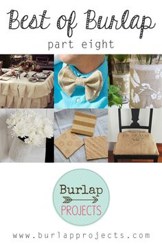 If you love a great Burlap DIY Project you are going to enjoy todays issue of Best of Burlap DIY Projects Part Eight. Be inspired and Create!