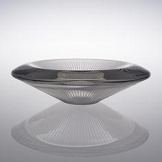 TAPIO WIRKKALA - Glass bowl '3345' for Iittala 1956, Finland. - In a half-mold shaped crystal, polished and line-cut. Diameter 29 cm. Glass Design, Design Art, Modern Art, Contemporary Art, Buy Shop, Bukowski, Helsinki, Finland, Glass Art