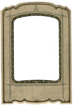 Knick of Time: Antique Photo Frame - Antique Graphics Wednesday Antique Photo Frames, Antique Photos, Vintage Frames, Vintage Prints, Vintage Labels, Vintage Ephemera, Vintage Paper, Printable Frames, Framing Photography