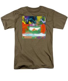 Abstract Men's T-Shirt  (Regular Fit) featuring the painting The Milk Pool by Noa Yerushalmi