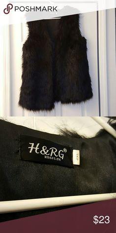 Beautiful Black Fur Vest Beautiful Black Fur Vest Jackets & Coats Vests