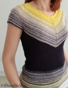 Summer cotton knitted top