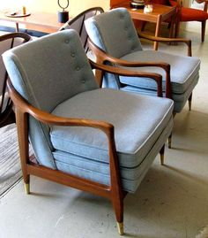 1960's side chairs, original upholstery - gorgeous!