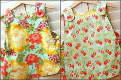 Everything is better with KAM Snaps: Smashed Peas and Carrots: Vintage Tie Apron Tutorial {and Pattern} Toddler Apron, Kids Apron, Sewing Tutorials, Sewing Projects, Sewing Patterns, Apron Patterns, Kids Patterns, Sewing For Kids, Baby Sewing