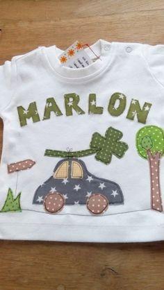 Langarmshirts - Shirt mit Name, Auto und Verkehrszeichen  - ein Designerstück von farbpiraten bei DaWanda