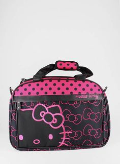 Take a trip with the Hello Kitty Bows Weekender bag. Hello Kitty Bow, Here Kitty Kitty, Cheap Designer Handbags, Cheap Handbags, Hello Kitty Handbags, Hello Kitty Accessories, Kawaii, Types Of Fashion Styles, Sanrio