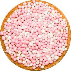 Geboortesticker beschuit met muisjes, roze. http://www.hollandinhuis.nl/a-20092170/hollandse-geboortestickers/geboortesticker-beschuit-roze/