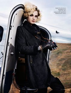 Amelia Earhart editorial for Marie Claire magazine by photographer Giuliano Bekor | giulianobekor.com