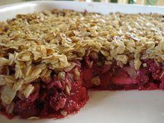 The Yummy Vegan: raspberry banana apple crumble. the ultimate fruit crumble