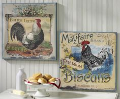 Country Kitchen Decor Worth Crowing About: No other bird seems more at home in the kitchen than the perennial rooster. You'll find his inspiration on everything from wall décor to kitchen canisters to servingware and teacups. His presence adds a welcoming air to the heart of your home with just a few interesting pieces.