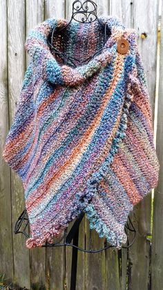 Women's Casual Multicolor Shift Sleeve Scarves & Shawls – linenlooks style scarfs,scarves shawls wraps,scarves and shawls Crochet Scarves, Crochet Shawl, Crochet Clothes, Knit Crochet, Knitting Patterns, Loom Knitting, Crochet Capas, Crochet Ruffle, Inspired Outfits