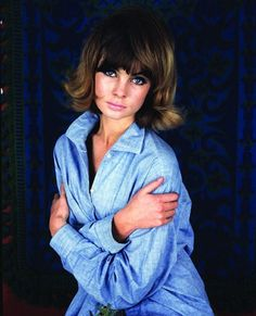 This portrait of Jean Shrimpton, shot wearing the photographer's denim shirt, was taken for the first ever  Sunday Telegraph supplement. This previously unseen photo of Jean Shrimpton was taken by lesser known '60s photographer Ronald Falloon for the first ever Sunday Telegraph supplement in 1964. The picture never ran and recently went up for sale.