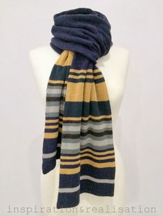 DIY machine knitting: striped cachemire scarf (inspiration&realisation: DIY…