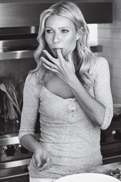 "The always beautiful Gwyneth Paltrow - ""I'm a very grounded, homey person and Chris is a very mad scientist, genius songwriter,"" she noted. ""So I never say, 'Where are you? You should be home by now.' I never place demands on him because I think he's a really talented man and he's putting something good into the world."" I so want a love like that. < just adore her"