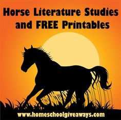 FREE Horse Literature Studies and Printables | Free Homeschool Deals ©