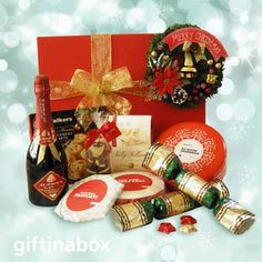 Perfect Christmas gift basket for the whole family to enjoy. Christmas goodies hamper to satisfy everyone! Merry Christmas Message, Christmas Messages, Christmas Wine, Christmas Chocolate, Perfect Christmas Gifts, Christmas Bells, Christmas Goodies, Holiday Gifts, Christmas Wreaths