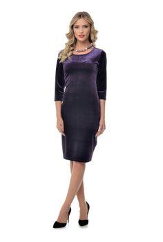 Rochie creion mov din catfifea RN127 -  Ama Fashion Dresses For Work, Fashion, Embroidery, Moda, Fashion Styles, Fashion Illustrations