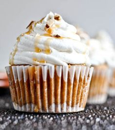 Sweet Potato Pie Cupcakes with Marshmallow Frosting......because i'm southern like that. Lol!