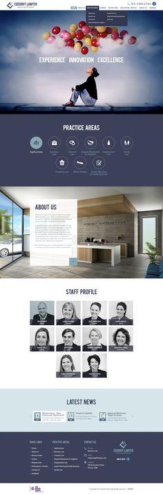 Design #86 by Melwyn3 | 'Cosgriff.Lawyer' need a sleek new webiste