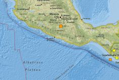 Location of the M5.8 Mexico earthquake of 16 June 2013