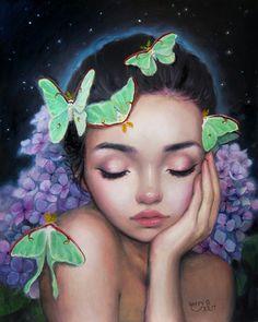 Happy D Artist Midnignt Lullaby oil painting