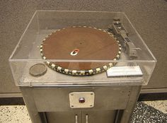 Gray Transcription Turntable - A heavy console helped absorbed the vibrations inherent in the powerful motor used in these machines.