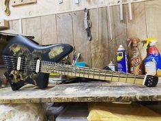 "XOLO Custom Guitars on Instagram: ""Tonatiuh 6. Buckeye burl top, ash body, pale moon ebony fretboard. MOP custom inlay. Stainless steel frets, bone nut, @seymourduncanespanol…"""