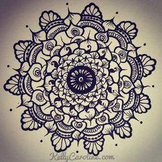 Morning mandala drawing ... #mandala #henna #drawing #art #ypsilanti #kellycaroline #floral #ink #tattoodesign