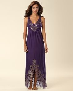 Soma Intimates Limited Edition Shimmer Lace Long Nightgown #somaintimates. #MySomaWishList