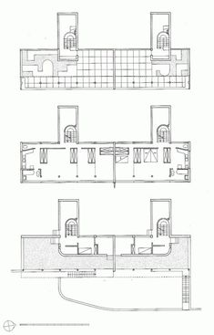 Gallery of AD Classics: Weissenhof-Siedlung Houses 14 and 15 / Le Corbusier + Pierre Jeanneret - 16 Pierre Jeanneret, Architecture Drawings, Classical Architecture, Architecture Plan, Le Corbusier, Luxury Floor Plans, Building Images, Building Plans, Elevation Plan
