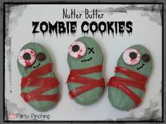 """Nutter Butter Zombie Cookies"" -- Instructions at the click-through."