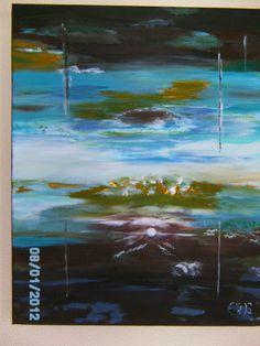 acryl painting sky  40x50 te koop  35 €